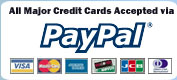 Pay with credit cards securely.